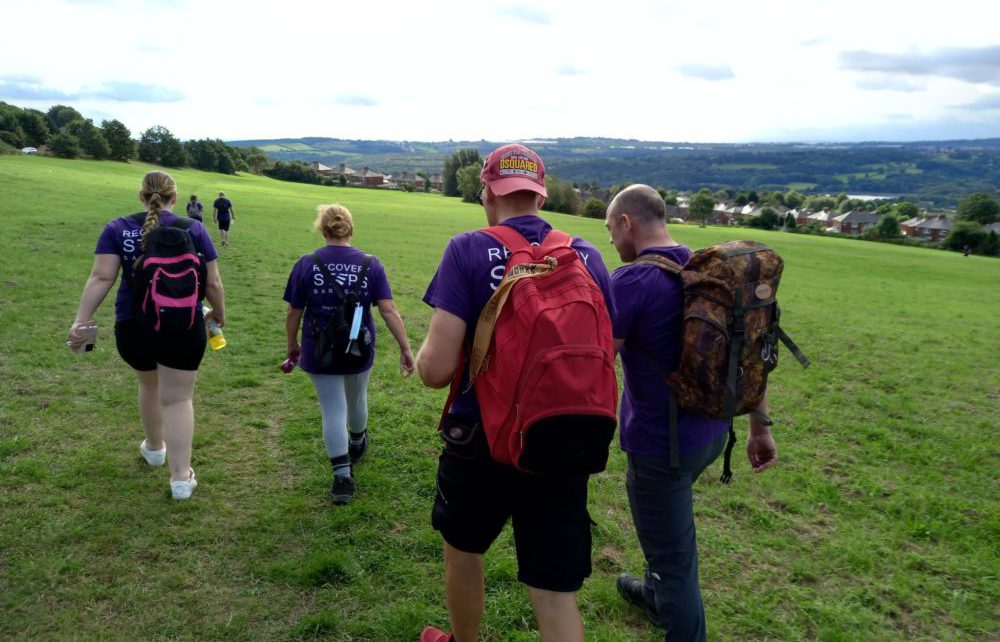 Barnsley Recovery Steps, a Humankind service, on a recovery walk through Barnsley